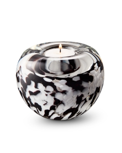 Tealight black-white-opaque