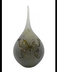 Frosted druppel medium nature - Vlinder