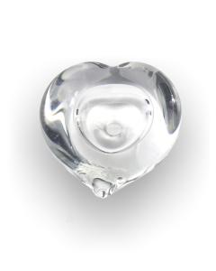 Pebble heart transparant