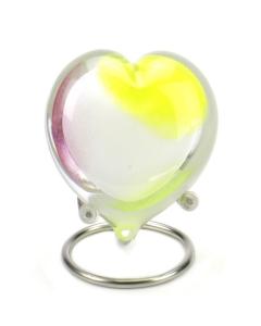 Pebble heart pastel opaque